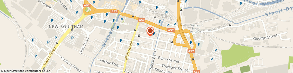 Route/map/directions to Portland Arms, LN5 7JX Lincoln, 50 Portland Street
