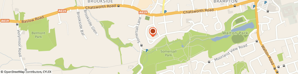 Route/map/directions to Car Audio Services, S40 3LD Chesterfield, 4 Somersall Park Road