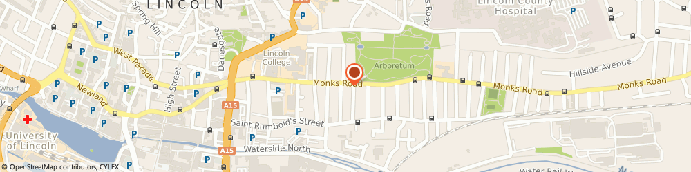 Route/map/directions to TOPDOG Grooming Salon, LN2 5HT Lincoln, 115 Monks Rd