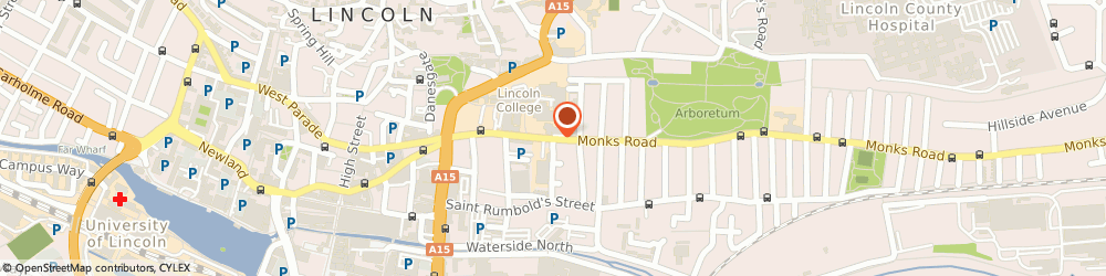 Route/map/directions to Cherry Judo Club, LN2 5HQ Lincoln, Monks Rd