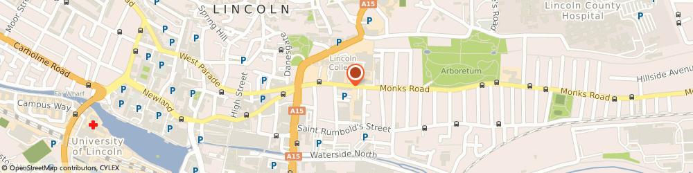 Route/map/directions to A&M Plumbing, LN2 5HN Lincoln, 43 Monks Rd