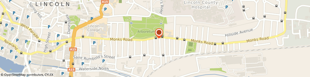 Route/map/directions to Abbey Student Accommodation, LN2 5JJ Lincoln, 175 MONKS ROAD