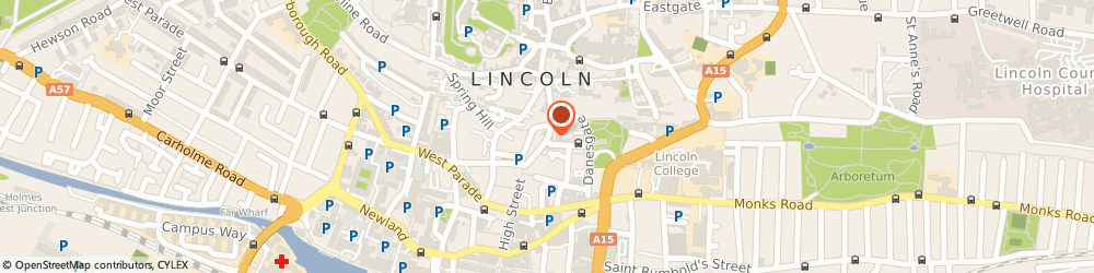 Route/map/directions to Jews Court Bookshop, LN2 1LS Lincoln, 2-3 Steep Hill
