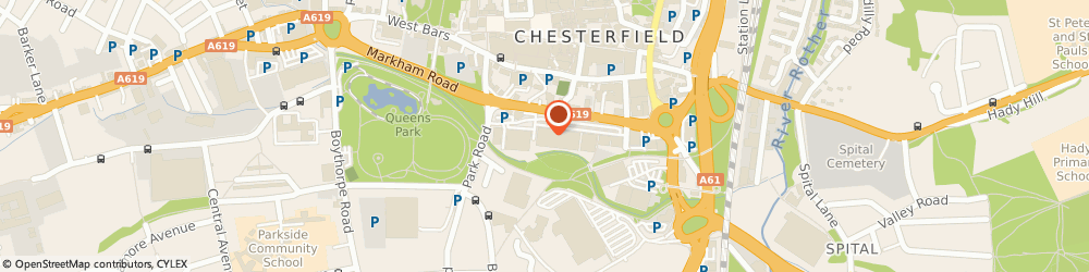 Route/map/directions to DPD Parcel Shop Location - Currys PC World, S40 1TB Chesterfield, Park Road