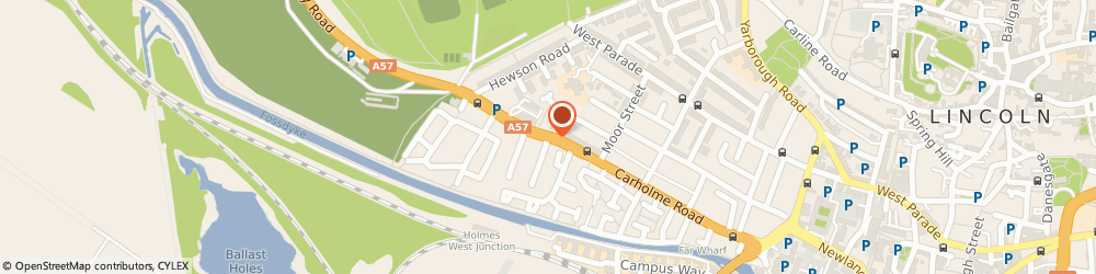 Route/map/directions to NATIONAL TYRES AND AUTOCARE Lincoln, LN1 1RU Lincoln, Carholme Road