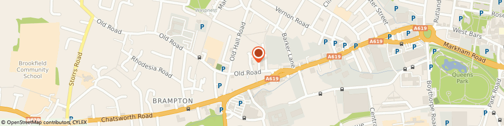 Route/map/directions to Ability Ash Lodge, S40 2RA Chesterfield, 73 Old Rd