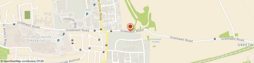 Route/map/directions to Peter Hodgkinson Centre, LN2 5UA Lincoln, Greetwell Rd