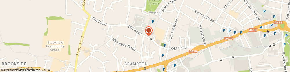 Route/map/directions to Brampton Manor Country Club, S40 3QT Chesterfield, 107 Old Road