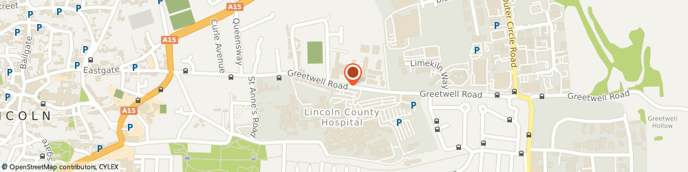 Route/map/directions to WHSmith, LN2 5QY Lincoln, County Hospital Hospital Main Entrance Greetwell Road