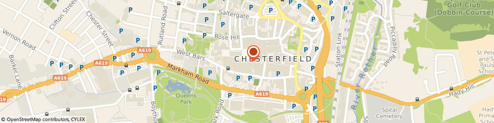 Route/map/directions to William Hill, S40 1PB Chesterfield, 61/63 Low Pavement