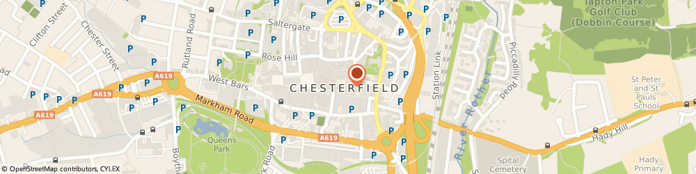 Route/map/directions to HMV Chesterfield, S40 1PY Chesterfield, 25-27 Vicar Lane