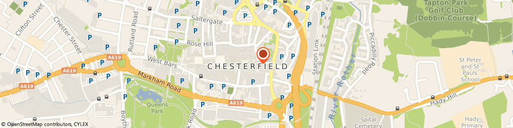 Route/map/directions to CeX, S40 1PY Chesterfield, Unit 6, 14 Steeplegate