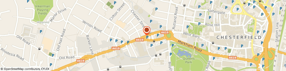 Route/map/directions to Penk Taxi Insurance, S40 2AL Chesterfield, 49-53 Chatsworth Road