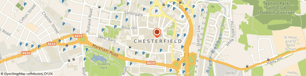 Route/map/directions to Timpson, S40 1RB Chesterfield, Max Spielmann Ltd 6 Packers Row