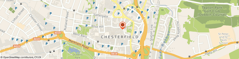 Route/map/directions to Specsavers Hearing Centre, Chesterfield, S40 1RB Chesterfield, 2 Burlington Street