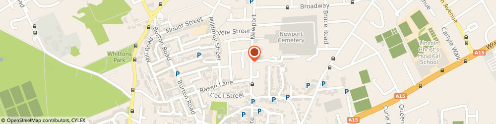 Route/map/directions to Sunflowers Florists, LN1 3DN Lincoln, 53, Newport
