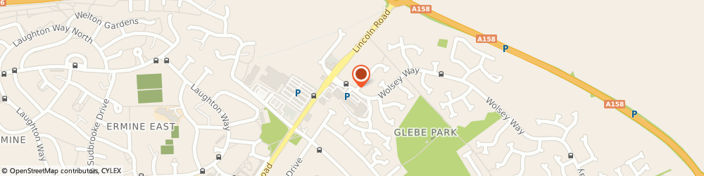 Route/map/directions to Bentleys, LN2 4SX Lincoln, 313, WOLSEY WAY