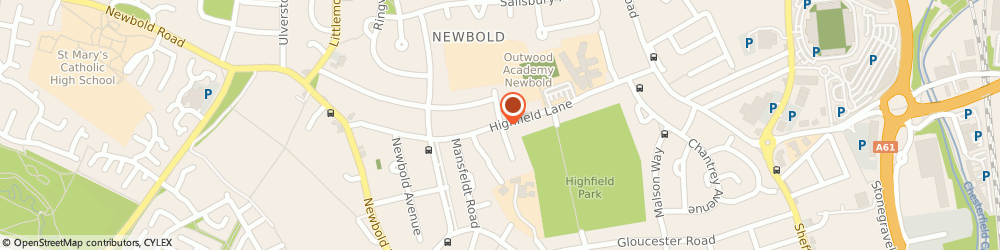 Route/map/directions to Kickboxing 4 Sport, S41 8BA Chesterfield, HIGHFIELD LANE NEWBOLD