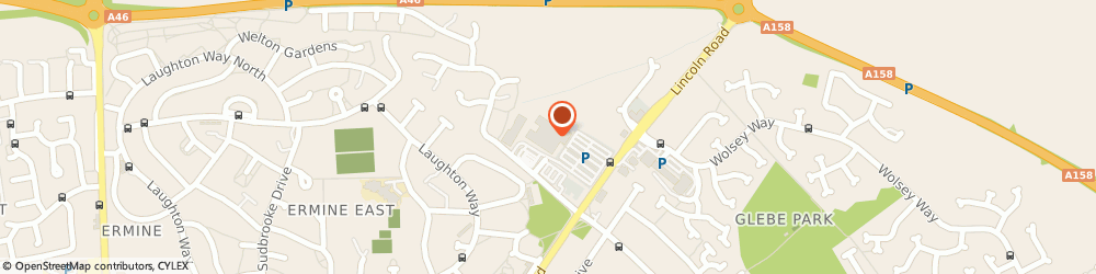Route/map/directions to Johnson cleaners, LN2 4DS Lincoln, Waitrose Searsby Road