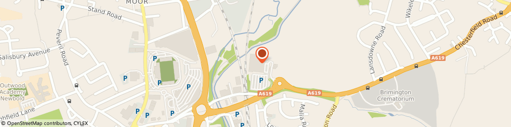 Route/map/directions to LloydsPharmacy, S41 0UB Chesterfield, Rother Way