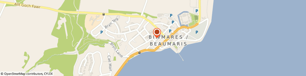 Route/map/directions to Happy House Chinese Restaurant, LL58 8DU Beaumaris, 12 Steeple Lane