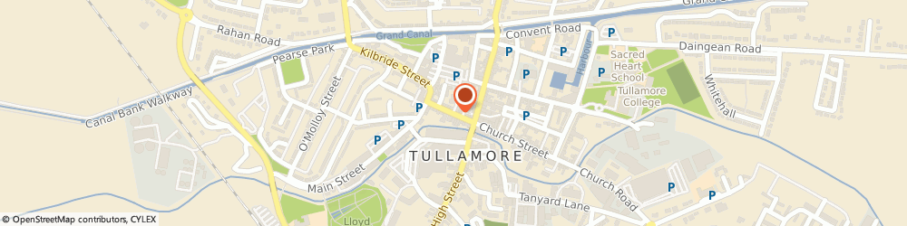 Route/map/directions to Slip Discs,  Tullamore, TESCO SHOPPING CENTRE