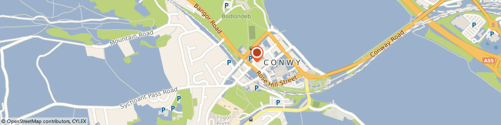 Route/map/directions to The Archway Fish & Chip Shop, LL32 8NH Conwy, 12-14 Bangor Road