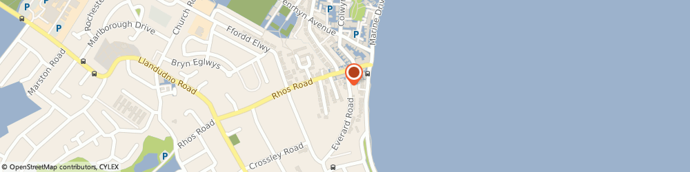 Route/map/directions to Humphreys Of Rhos On Sea, LL28 4EY Colwyn Bay, 14 Everard Rd
