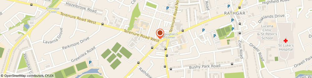 Route/map/directions to Total Computers,  Terenure, 1 Lavarna Road