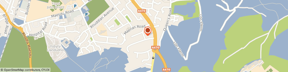 Route/map/directions to Infinity Heating, LL30 1NX Llandudno, 6 Elwy Gardens