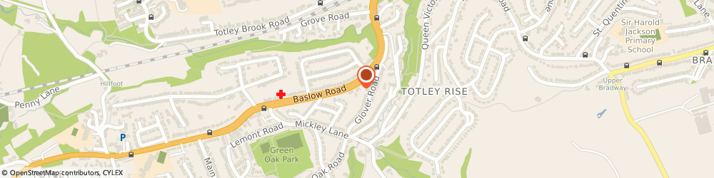 Route/map/directions to Mrs Rachel Brandreth Sheffield, S17 4DP Sheffield, PHYSIOFOCUS, TOTLEY RISE DENTAL PRACTICE, 85 BASLOW ROAD