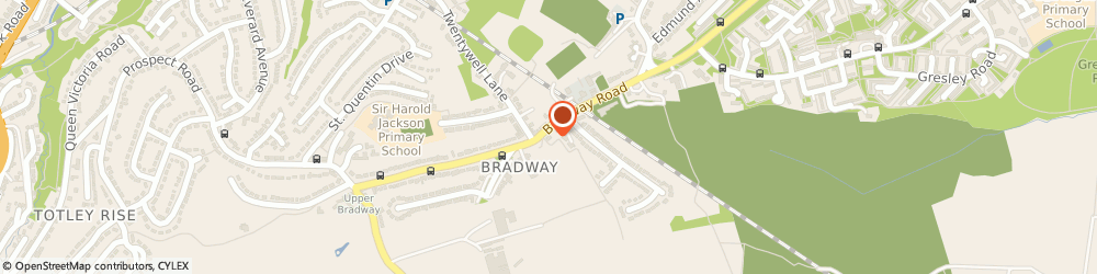 Route/map/directions to Miss Clare Heward Sheffield, S17 4QS Sheffield, BRADWAY PHYSIOTHERAPY CLINIC, 99 BRADWAY ROAD