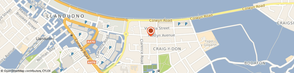 Route/map/directions to Martins Restaurant, LL30 1YS Llandudno, 11 Mostyn Avenue