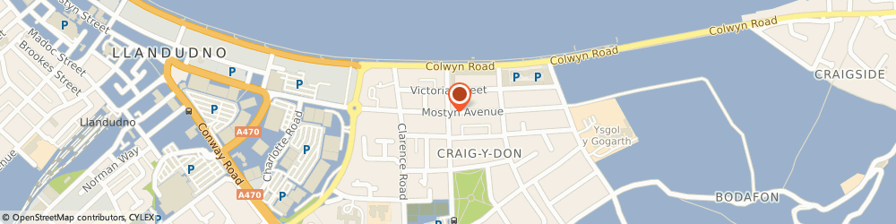 Route/map/directions to Bistro Bach, LL30 1YY Llandudno, 24 Mostyn Ave
