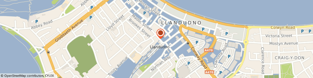 Route/map/directions to East, LL30 2AD Llandudno, 21 Augusta Street