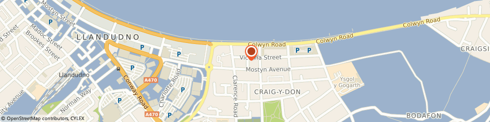 Route/map/directions to Craig-y-Don Travel, LL30 1LJ Llandudno, THE SHOP, 26 QUEENS ROAD