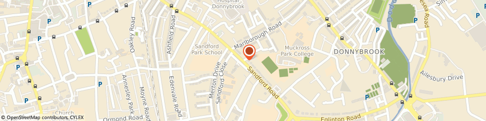 Route/map/directions to DPPBR AD LIMITED, D06 Dublin, 80 Sandford Road, Ranelagh