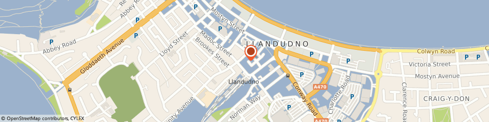 Route/map/directions to Head Office, LL30 2RA Llandudno, 12 Trinity Square