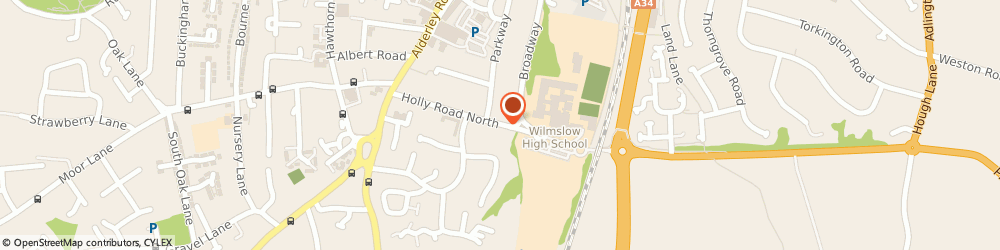 Route/map/directions to Wilmslow High School, SK9 1LZ Wilmslow, Holly Road North