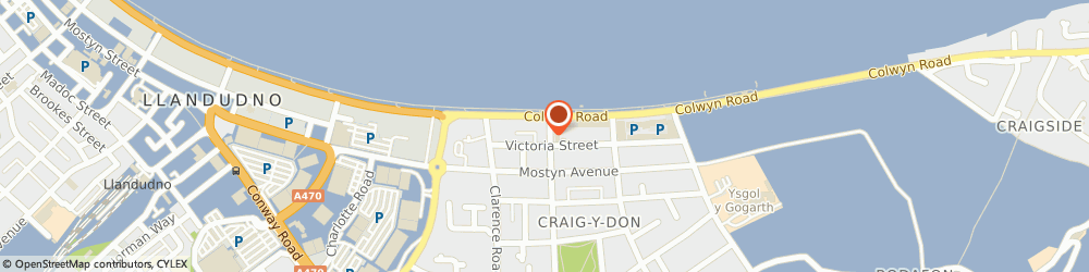 Route/map/directions to Nico's, LL30 1AZ Llandudno, 12 Queen's Rd