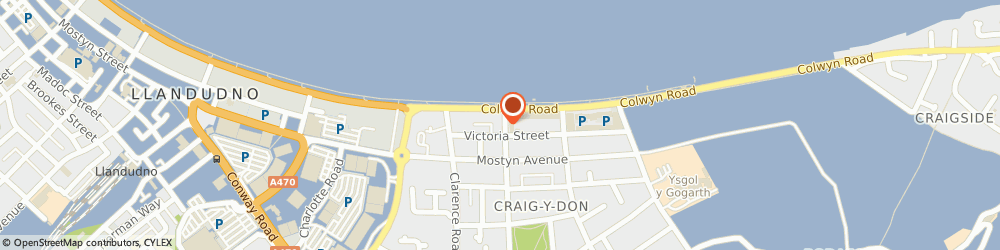 Route/map/directions to The County Bar, LL30 1AZ Llandudno, 10 Queen's Rd