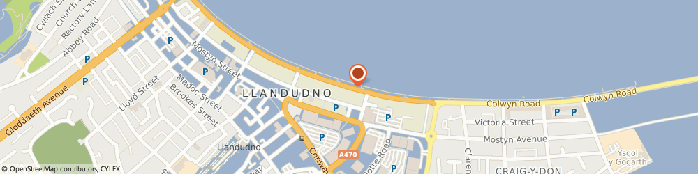 Route/map/directions to Hydro Hotel, LL30 1AT Llandudno, Neville Crescent