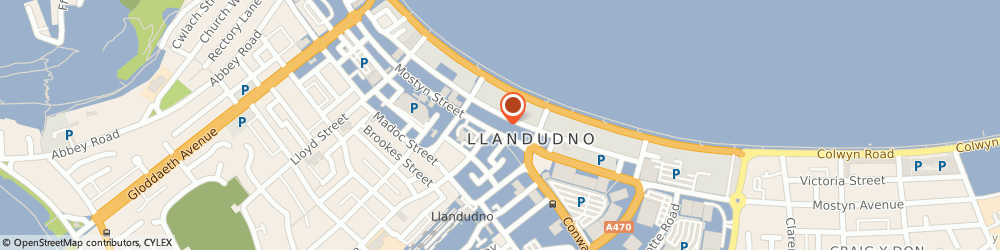 Route/map/directions to The King's Arms, LL30 2NL Llandudno, 17 MOSTYN STREET