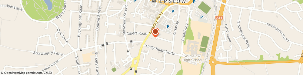 Route/map/directions to The Coach & Four, SK9 1PA Wilmslow, 69-71 Alderley Rd