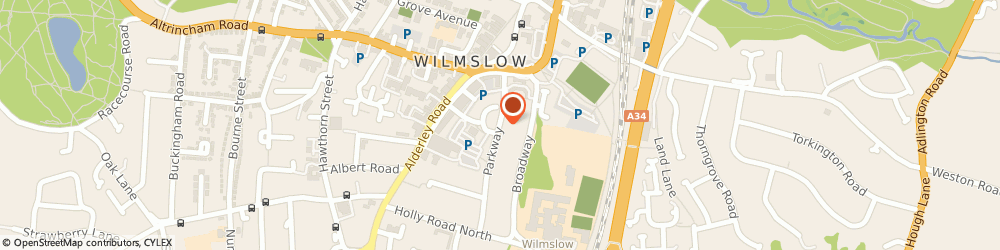 Route/map/directions to Kinsella Tax, SK9 1LS Wilmslow, 6 Parkway