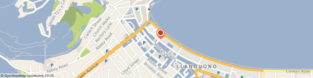 Route/map/directions to Petticoat Lane, LL30 2NR Llandudno, 7 St. Georges Place