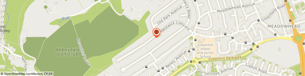 Route/map/directions to Miss Wendy Feltrup Sheffield, S8 7DL Sheffield, WESTWICK CRESCENT