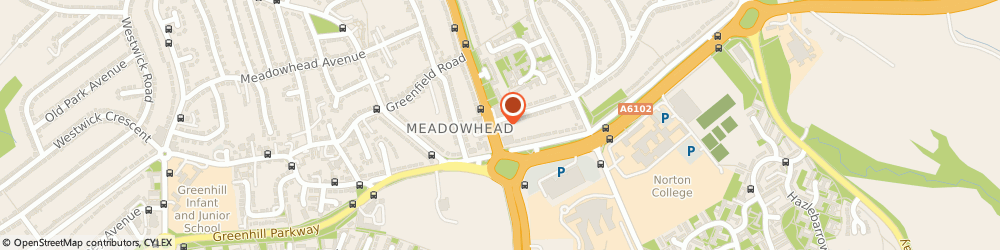 Route/map/directions to LloydsPharmacy, S8 7UP Sheffield, 333 Meadowhead