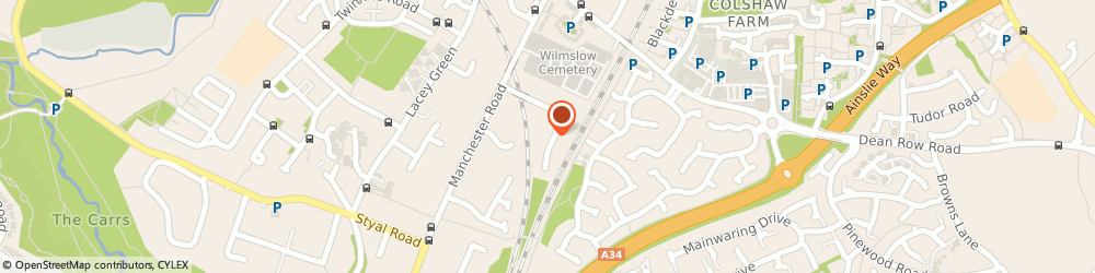 Route/map/directions to M.T. Ludlow Decorating Services, SK9 2JT Wilmslow, 6 Deanway