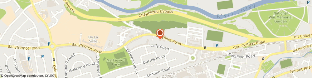 Route/map/directions to D & A CHILDCARE LIMITED, D10 Dublin, 263 Sarsfield Road, Ballyfermot